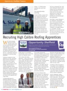 R.A. Sidebottom interview with Roofing Today magazine, Roofing apprenticeship
