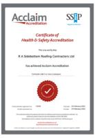 Acclaim Certificate – October 2020